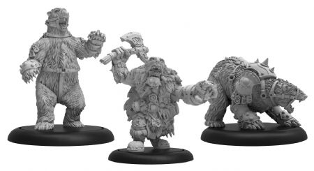 Northkin Bear Handler & Battle Bears  Trollblood Unit (resin/metal)